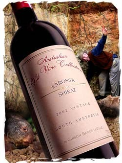 2001 Gibson's Australian Old Vine Collection Barossa Shiraz